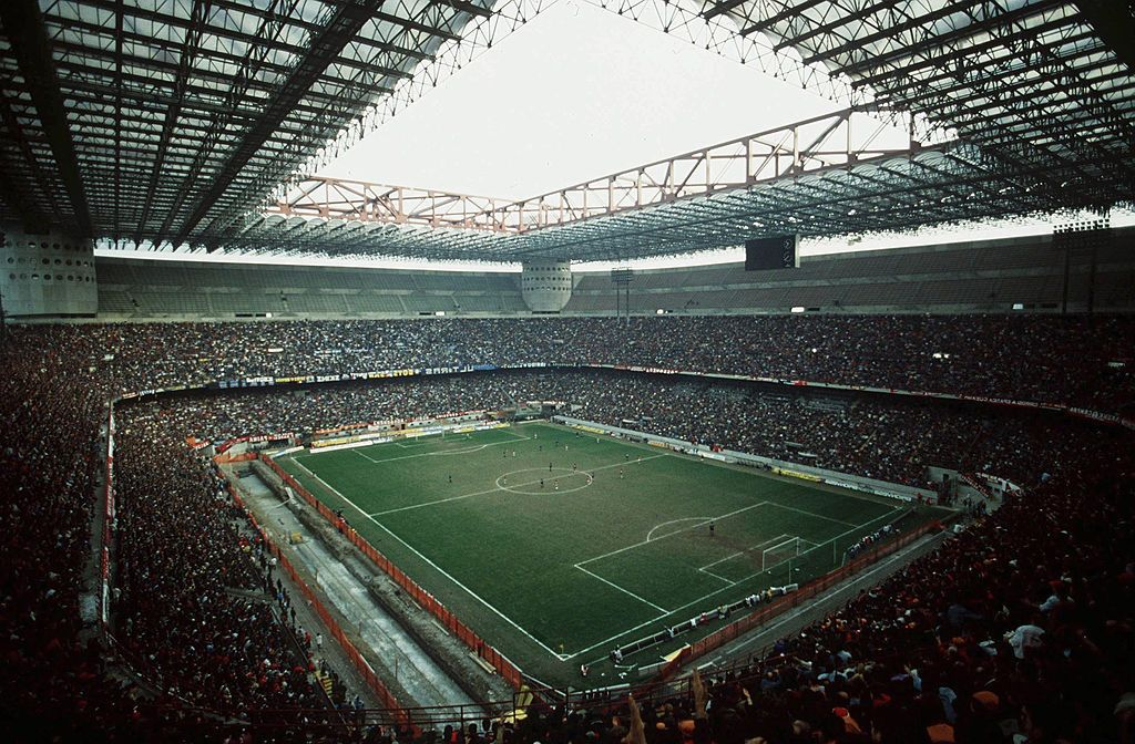 MILAN, ITALY - MARCH 12: FUSSBALL: ITALIENISCHE LIGA - AC MAILAND und INTER MAILAND, STADION Giuseppe MEAZZA/SAN SIRO (Photo by Bongarts/Getty Images)