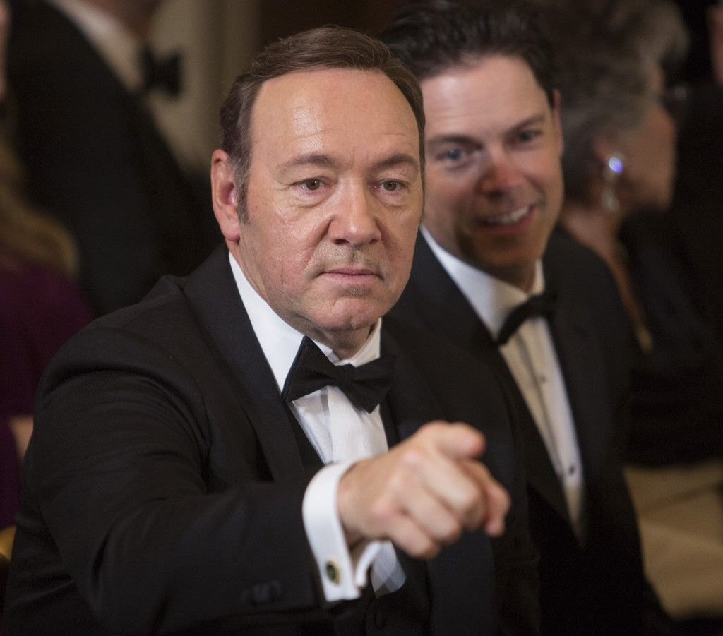 "(FILES) In this file photo taken on December 4, 2016, actor Kevin Spacey acknowledges another guest during a reception for the 2016 Kennedy Center Honorees at the White House in Washington, DC. - Prosecutors dropped sexual assault proceedings against Spacey on July 17, 2019, after the case against the Hollywood star collapsed over his alleged victim's refusal to testify. William Little had accused the 59-year-old actor of groping him in a bar on the resort island of Nantucket in July 2016. But Massachusetts prosecutors filed a formal notice of abandonment of indecent assault and battery charges due to ""the unavailability of the complaining witness,"" who had declined to give evidence due to fear of self-incrimination. (Photo by CHRIS KLEPONIS / AFP)"