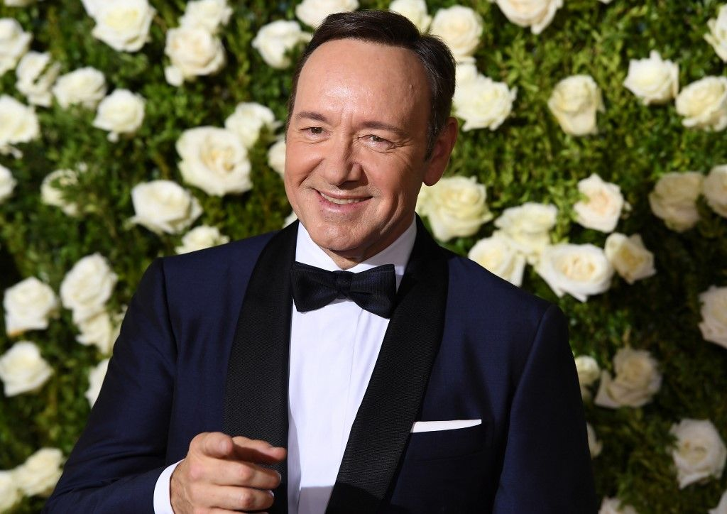 "(FILES) In this file photo taken on June 11, 2017, host Kevin Spacey attends the 2017 Tony Awards - Red Carpet at Radio City Music Hall in New York City. - Prosecutors dropped sexual assault proceedings against Spacey on July 17, 2019, after the case against the Hollywood star collapsed over his alleged victim's refusal to testify. William Little had accused the 59-year-old actor of groping him in a bar on the resort island of Nantucket in July 2016. But Massachusetts prosecutors filed a formal notice of abandonment of indecent assault and battery charges due to ""the unavailability of the complaining witness,"" who had declined to give evidence due to fear of self-incrimination. (Photo by ANGELA WEISS / AFP)"