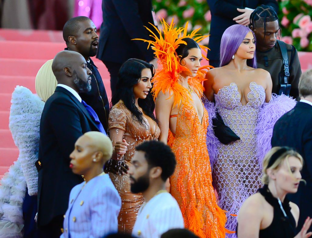 NEW YORK, NY - MAY 06: (L-R)Kylie Jenner and Travis Scott,Kendall Jenner,Kim Kardashian, Kanye West attend the 2019 Met Gala celebrating 'Camp: Notes on Fashion' at the Metropolitan Museum of Art at on May 6, 2019 in New York City. (Photo by Raymond Hall/GC Images)