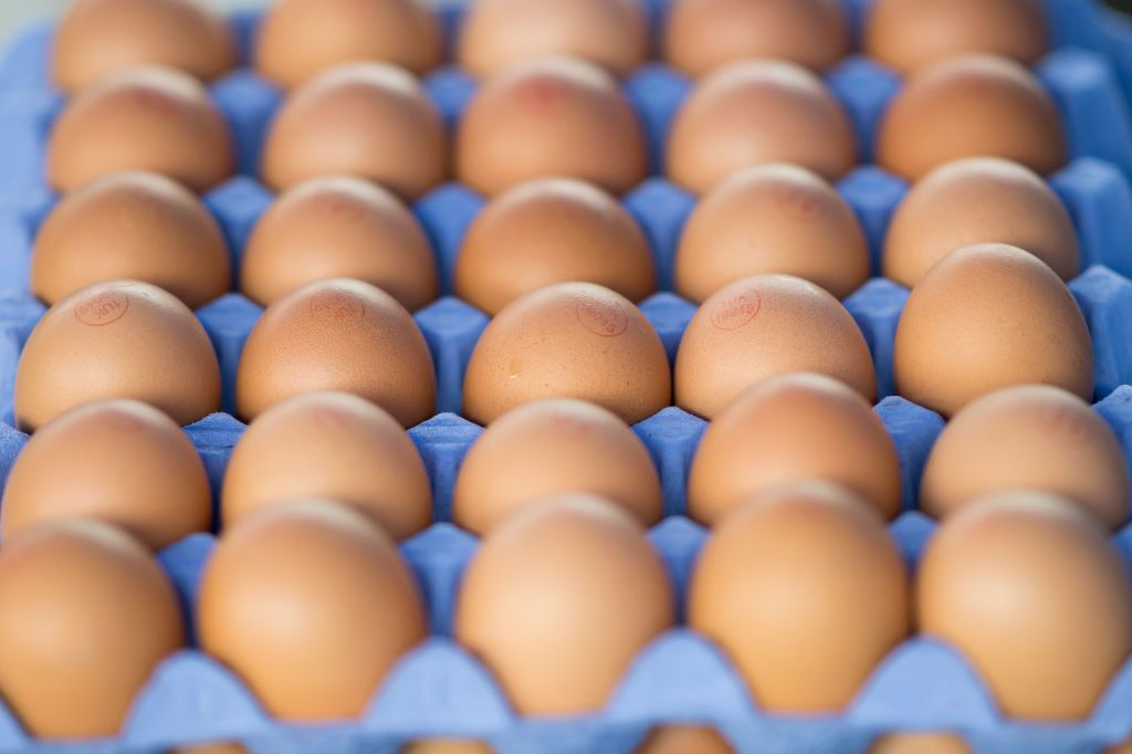 CARDIFF, UNITED KINGDOM - JUNE 02: Chicken eggs for sale at a street market on June 2, 2019 in Cardiff, United Kingdom. (Photo by Matthew Horwood/Getty Images)
