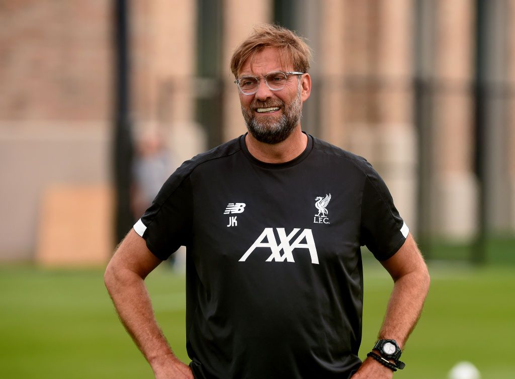 SOUTH BEND, INDIANA - JULY 17: (THE SUN OUT, THE SUN ON SUNDAY OUT) Jurgen Klopp manager of Liverpool during a training session on July 17, 2019 in South Bend, Indiana. (Photo by John Powell/Liverpool FC via Getty Images)