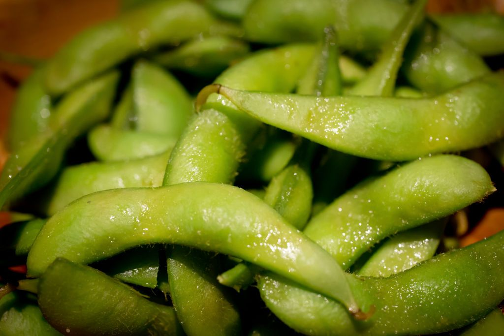 (GERMANY OUT) Edamame, steamed salted soy beans at the Japanese restaurant Tajima on Convoy Street, San Diego's Asian Restaurant Row. (Photo by Dünzl/ullstein bild via Getty Images)