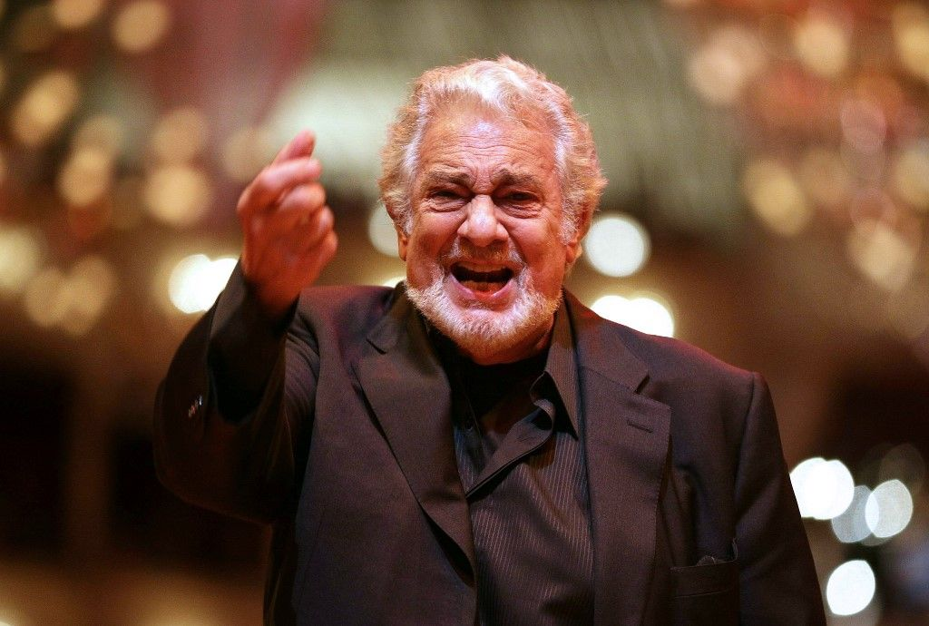 "(FILES) In this file photo taken on February 3, 2016 Spanish Opera singer Placido Domingo performs during the rehearsal of the Opera Ball 2016, in Vienna, Austria. - Opera great Placido Domingo denied multiple allegations of sexual harassment on August 13, 2019, insisting that he believed all interactions and relationships throughout his long career ""were always welcomed and consensual."" (Photo by GEORG HOCHMUTH / APA / AFP) / Austria OUT"