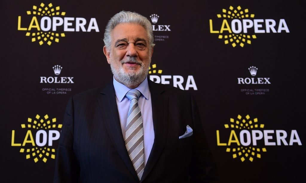 "(FILES) In this file photo taken on May 15, 2014 Opera star Placido Domingo poses during a Q & A session with the media in Los Angeles, California. - The Los Angeles Opera said August 13, 2019 it would probe sexual harassment allegations made by several women against Spanish-born opera legend Placido Domingo, its director general.""LA Opera will engage outside counsel to investigate the concerning allegations about Placido Domingo,"" it said in a statement emailed to AFP. (Photo by Frederic J. BROWN / AFP)"