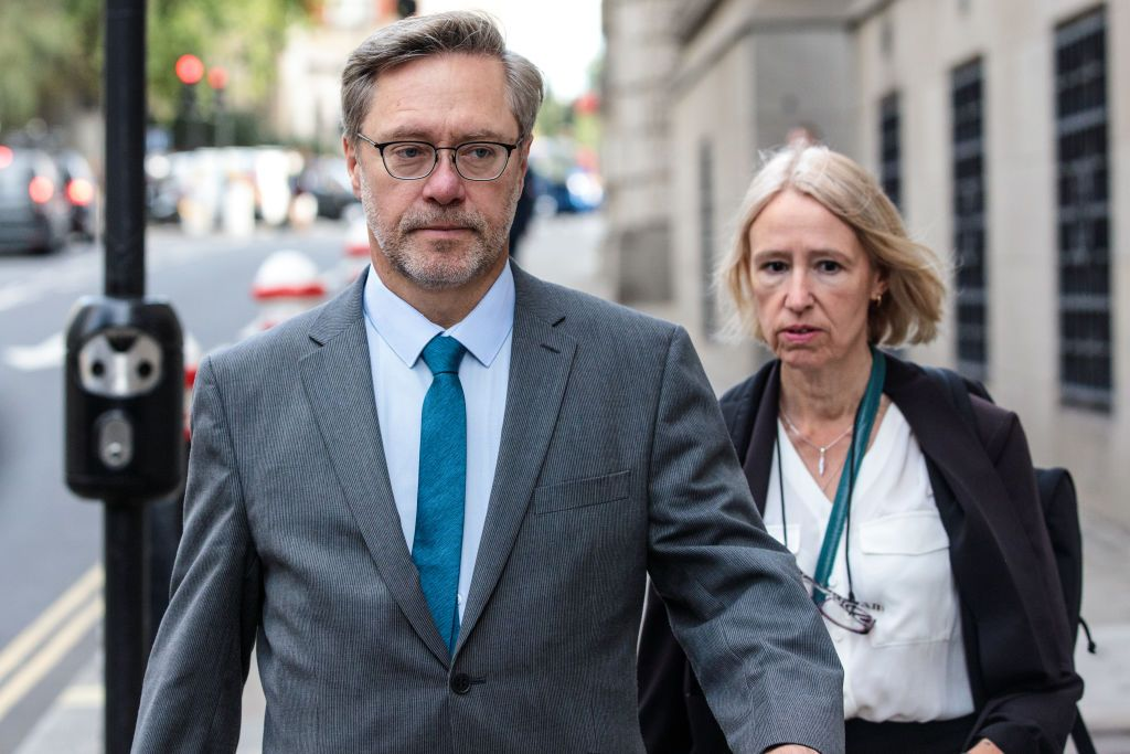 LONDON, ENGLAND - SEPTEMBER 10: John Letts and Sally Lane arrive at the Old Bailey charged with making money available for suspected terrorist activities on September 10, 2018 in London, England. The pair's son, dubbed 'Jihadi Jack' by some newspapers, is alleged to have travelled to Iraq to join the Islamic State. (Photo by Jack Taylor/Getty Images)
