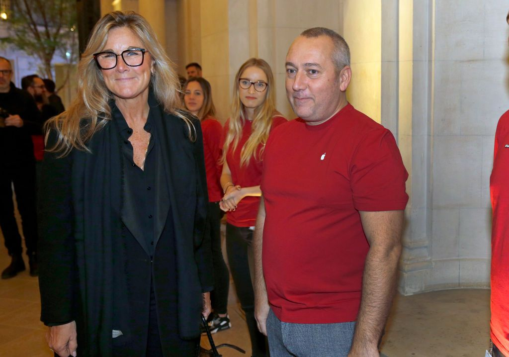 PARIS, FRANCE - NOVEMBER 15: Senior vice president of retail at Apple Inc. Angela Ahrendts arrives to visit the new Apple Store Champs-Elysees on November 15, 2018 in Paris, France. Apple will open its largest French store on the Avenue des Champs-Elysees in Paris this Sunday, November 18, 2018. This new store located in the heart of the capital will become the most important place of the firm in France. (Photo by Chesnot/Getty Images)