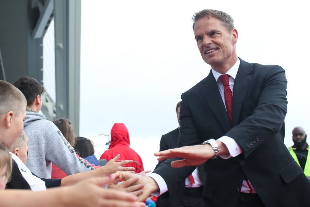 ATLANTA, GA - APRIL 20: Frank de Boer, head coach of Atlanta United greets fans prior to the game between Atlanta United and FC Dallas at Mercedes-Benz Stadium on April 20, 2019 in Atlanta, Georgia. (Photo by Carmen Mandato/Getty Images)
