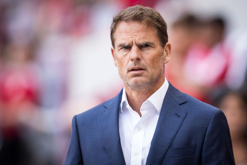 HARRISON, NJ - MAY 19: Head Coach Frank de Boer of Atlanta United at the start of the MLS match between Atlanta United FC and New York Red Bulls at Red Bull Arena on May 19 2019 in Harrison, NJ, USA. The New York Red Bulls won the match with a score of 1 to 0. (Photo by Ira L. Black/Corbis via Getty Images)