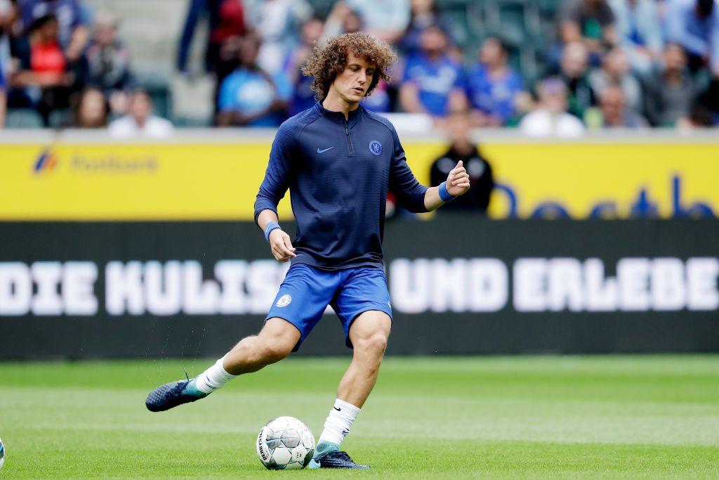 MONCHENGLADBACH, GERMANY - AUGUST 3: David Luiz of Chelsea FC during the Club Friendly   match between Borussia Monchengladbach v Chelsea at the Borussia Park on August 3, 2019 in Monchengladbach Germany (Photo by Laurens Lindhout/Soccrates/Getty Images)