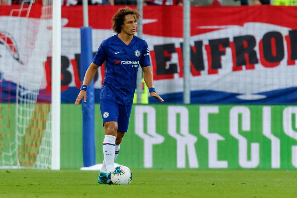 SALZBURG, AUSTRIA - JULY 31: David Luiz of FC Chelsea controls the ball during the pre-season friendly match between RB Salzburg and FC Chelsea at Red Bull Arena on July 31, 2019 in Salzburg, Austria. (Photo by TF-Images/Getty Images)