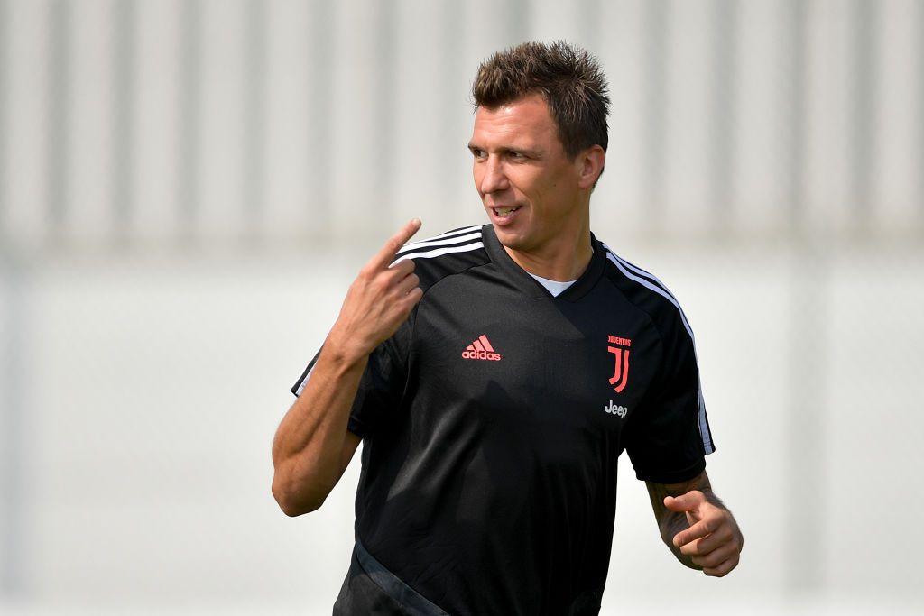 TURIN, ITALY - AUGUST 01: Juventus player Mario Mandzukic at JTC on August 01, 2019 in Turin, Italy. (Photo by Daniele Badolato - Juventus FC/Juventus FC via Getty Images)