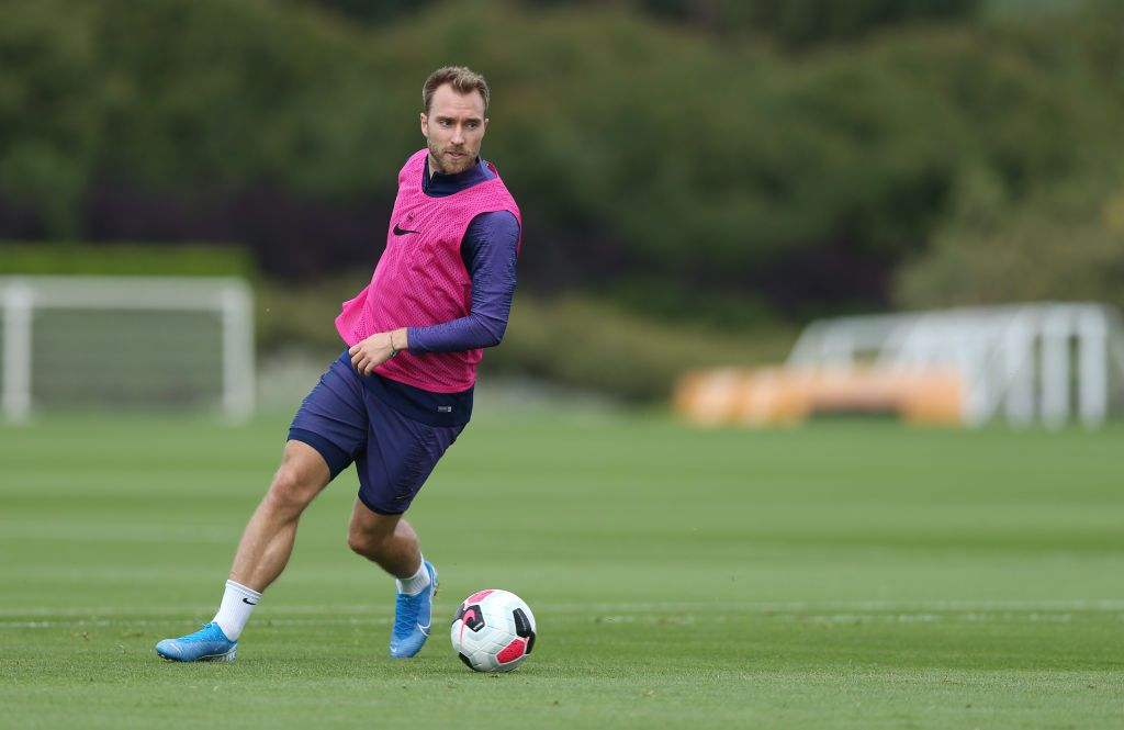 ENFIELD, ENGLAND - AUGUST 02: Christian Eriksen of Tottenham Hotspur during the Tottenham Hotspur training session at Tottenham Hotspur Training Centre on August 02, 2019 in Enfield, England. (Photo by Tottenham Hotspur FC/Tottenham Hotspur FC via Getty Images)