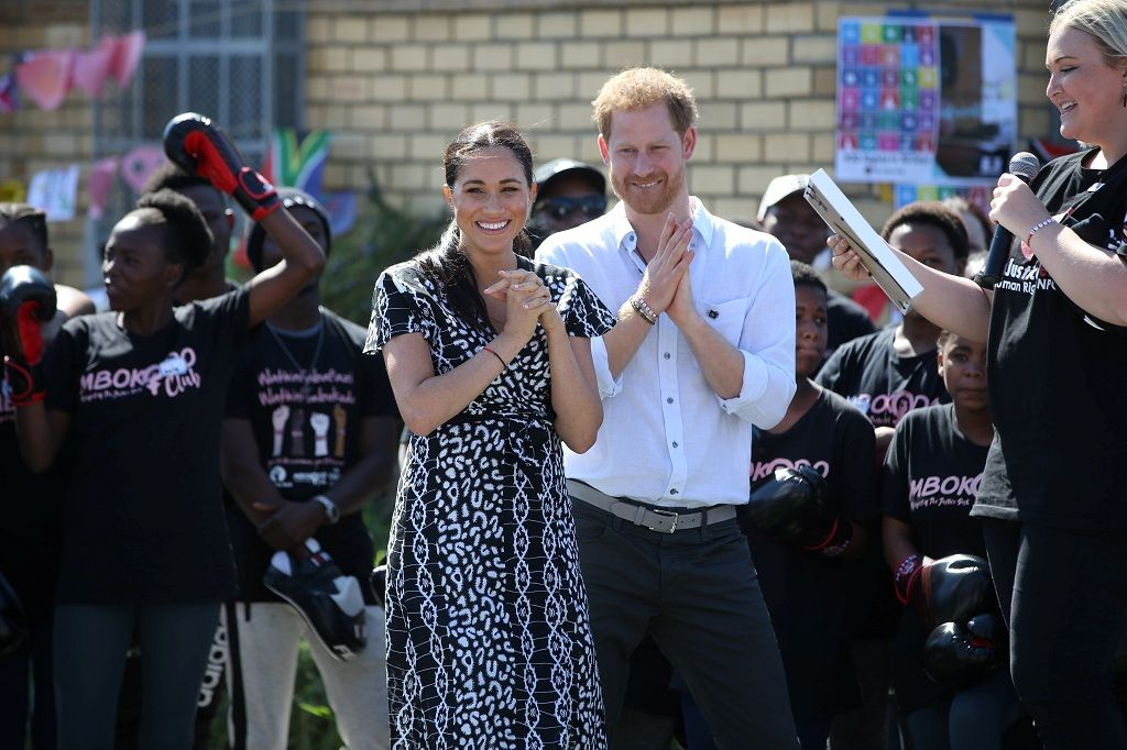 The Duke and Duchess of Sussex, Prince Harry and his wife Meghan, attend a Justice Desk initiative in Nyanga township, on the first day of their African tour in Cape Town, South Africa, September 23, 2019. Ian Vogler/Pool via REUTERS